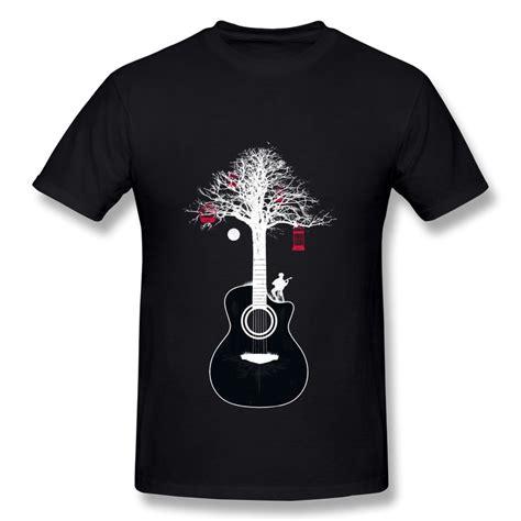 guitar blue pattern style men s clothing t shirts s m l xl 2014 new fashion short sleeve mens t shirt serenade design