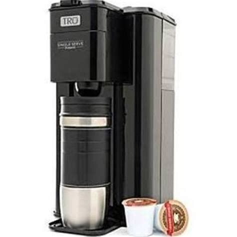 New TRU Single Serve K CUP Coffee Maker Brew System~Black~CM1000~Tall Travel Mug   eBay