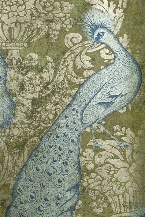 Motif Florence Blue 537 best images about patterns birds on toile
