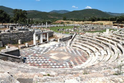 Wood Floor Protection ekklesiasterion ancient messene peloponnese greece