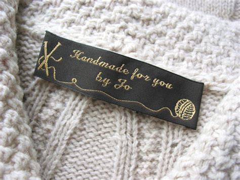 Sew In Tags For Handmade Items - custom clothing labels personalized woven sew on labels