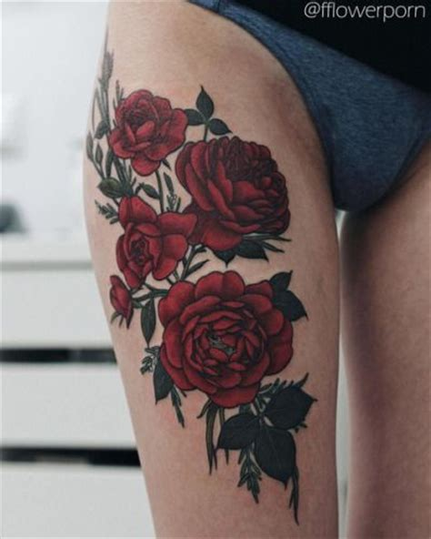deep red rose tattoo the 25 best ideas about tattoos on