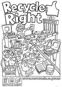 printable coloring pages recycling recycling coloring pages for coloring home