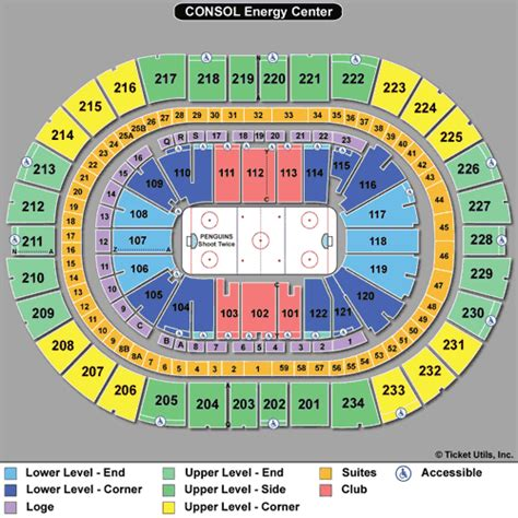 consol energy seating chart pittsburgh penguins tickets
