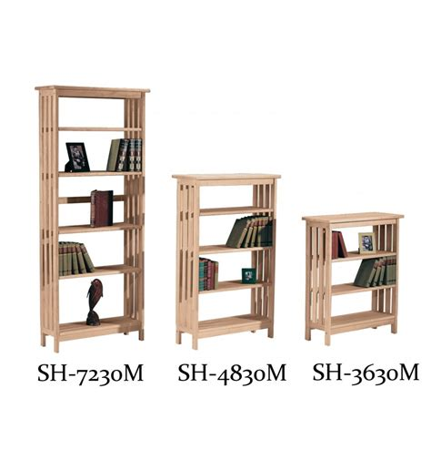 Bookshelves 30 Inches Height 30 Inch Mission Bookcases Bare Wood Wood