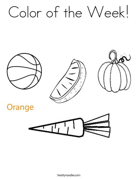 coloring pages color orange color of the week coloring page twisty noodle