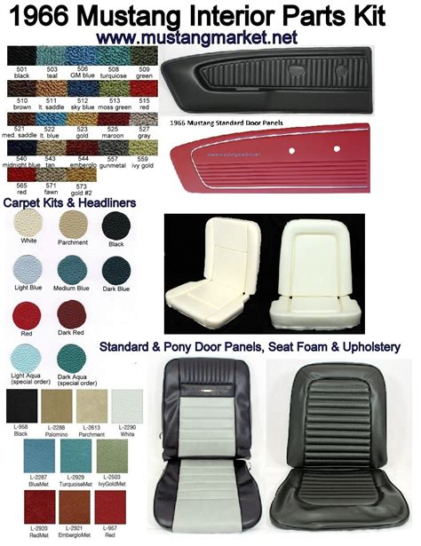 1966 Ford Mustang Interior Kits 1966 66 mustang interior kit parts