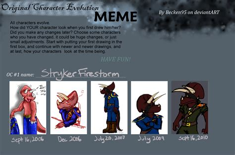Meme Evolution - character evolution meme by zalcoti on deviantart