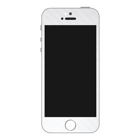 iPhone 5S White Carbon Fiber Wrap   GadgetWraps