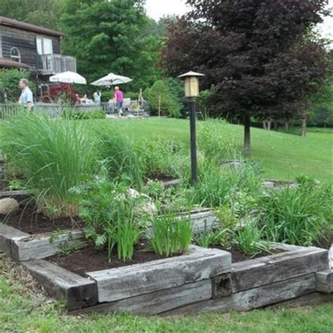 bed ties raised flower beds railroad ties and flower beds on pinterest