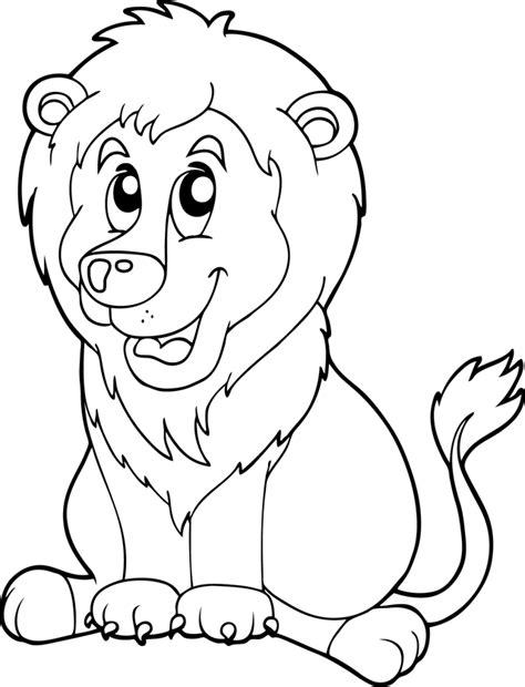 Coloriage Animaux Lion Imprimer L