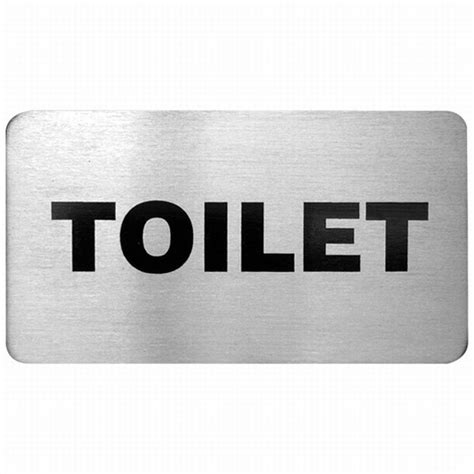 Toilet Sign No Sign Signed Metal Etching Name Plate small stainless steel sign toilet