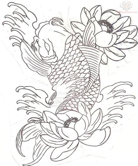 koi fish tattoo stencils designs koi images designs