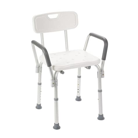 bath and shower chairs bath bench with padded arms and back by drive