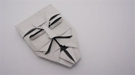 Fawkes Mask Origami - origami fawkes mask brian chan
