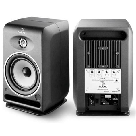focal cms 50 active studio monitor speakers pair with stands at gear4music
