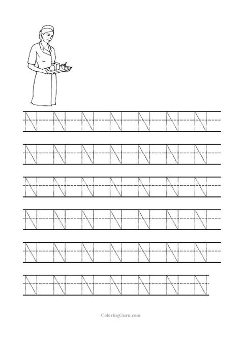 free printable tracing letter n free printable letter n worksheets for kindergarten