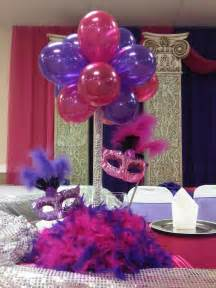 Quinceanera Centerpieces For Tables Quinceaneras Centerpieces Balloon Centerpiece With Masks