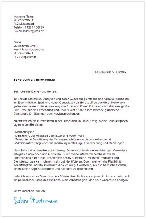 Bewerbungsschreiben Initiativbewerbung Verwaltung Bewerbungsschreiben Muster B 252 Rokauffrau Yournjwebmaster