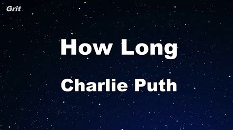 charlie puth how long chord how long charlie puth karaoke with guide melody