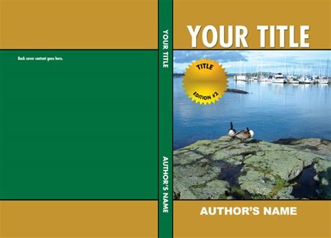 cover page templates for books book cover page template