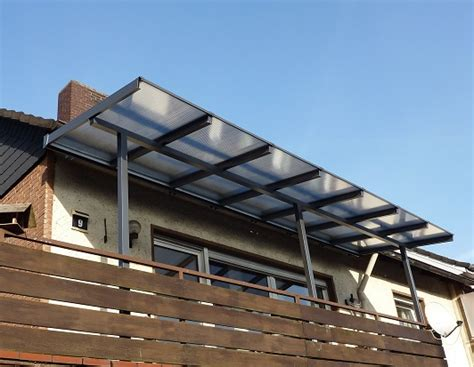 Balkon überdachung Alu Bausatz by Balkon 252 Berdachung Alu Pultdach Mit 220 Berstand Mit