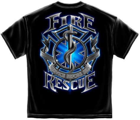 rescue firefighter t shirt surplus and