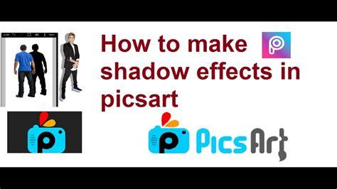 picsart shadow tutorial pics art editing tutorial in telugu how to make shadow