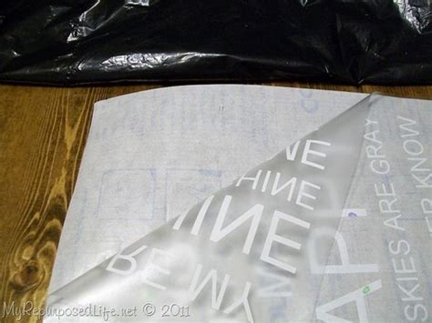 How To Make A Stencil Without Transfer Paper - idea to use clear contact paper to transfer a