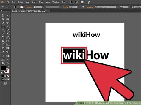how to color in illustrator 3 ways to change adobe illustrator font color wikihow
