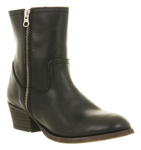 black boots h by hudson zip ankle boot in black lyst