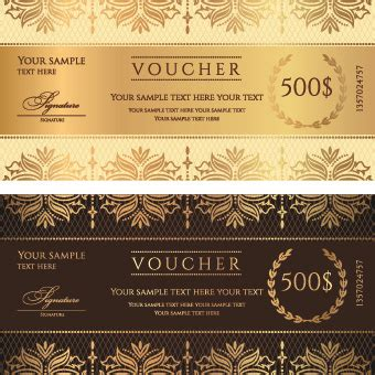 templates for vouchers design vector discount voucher template free vector download