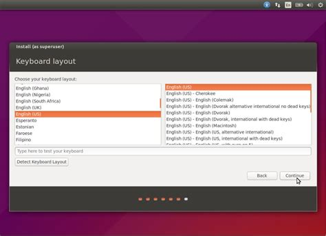 layout software ubuntu installation steps of ubuntu 15 04 with screenshots