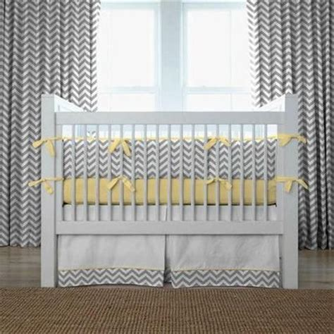 Yellow Chevron Crib Bedding Gray And Yellow Zig Zag Crib Bedding Bold Chevron Stripe C Baby Time Juxtapost
