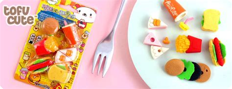 Kitchen Design Drawings buy set of 6 kawaii fast food erasers at tofu cute