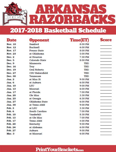 printable uk women s basketball schedule 2017 printable arkansas football schedule autos post