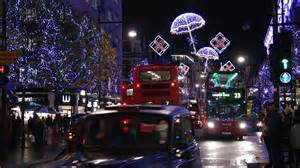 christmas lights and decorations in london uk youtube