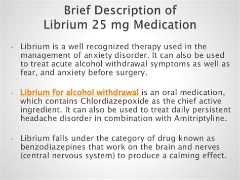 Librium Used For Detox by Buy Librium 25 Mg Medication For Withdrawal