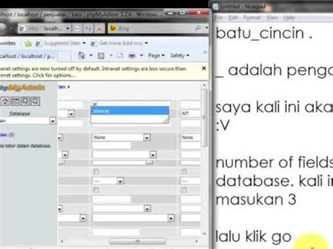 cara membuat database dengan xp lengkap cara membuat database dengan xampp youtube