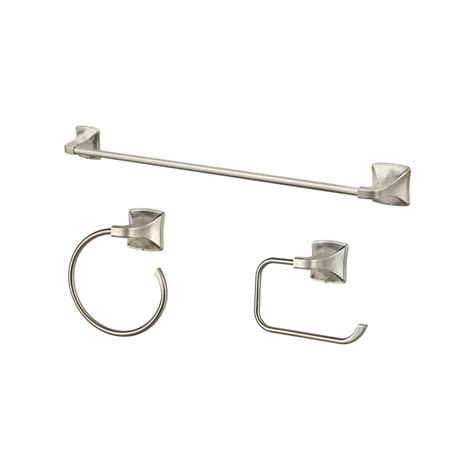 bathroom hardware brushed nickel shop pfister 3 piece selia brushed nickel decorative