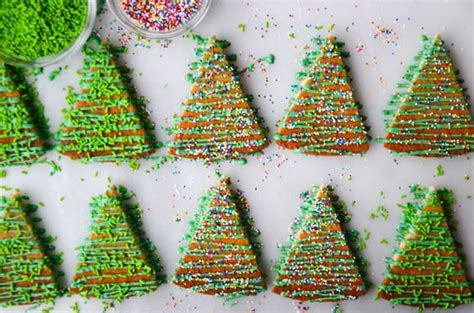 christmas tree shortbread cookies just a taste