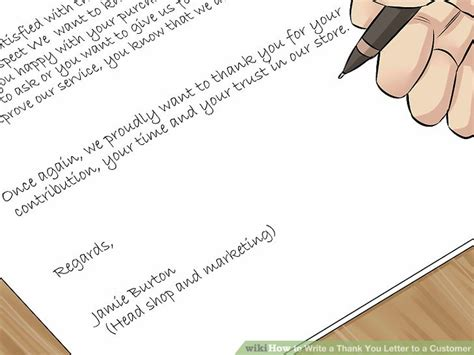 Thank You Letter For An Call How To Write A Thank You Letter To A Customer With Sle Thank You Letters