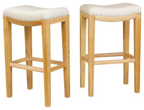transitional bar stools jaeden backless stools set of 2 transitional bar
