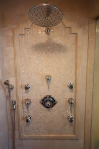 shower with sprays bathrooms