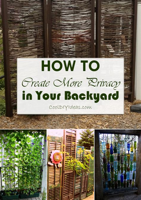 How To Make Your Backyard More by 12 Clever Ways To Create More Privacy In Your Backyard