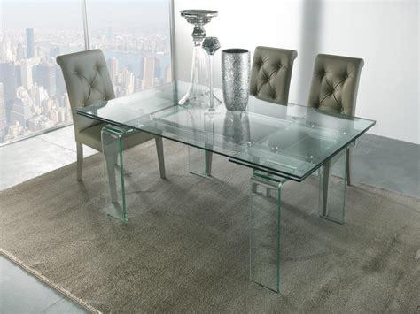 tavoli con vetro tavolo con gambe e piano allungabile in vetro idfdesign