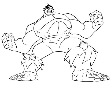 hulk coloring pages easy simple of hulk coloring pages