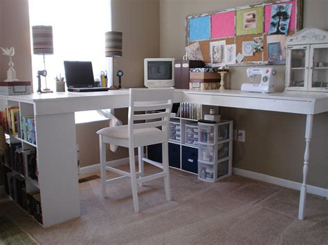 make a desk out of bookshelves 19 ways to organize your craft room