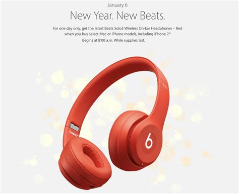 Earphone Beats Di Malaysia apple announces new year event featuring free beats solo3 headphones with mac or iphone