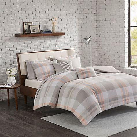 Westin Bedding Set Park Westin Flannel Reversible Comforter Set Bed Bath Beyond